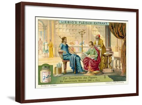 The Library of Alexandria, 300 BC--Framed Art Print