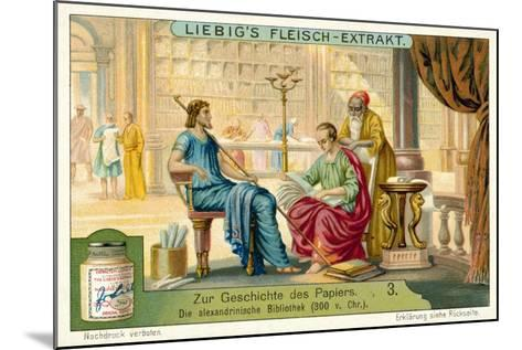 The Library of Alexandria, 300 BC--Mounted Giclee Print