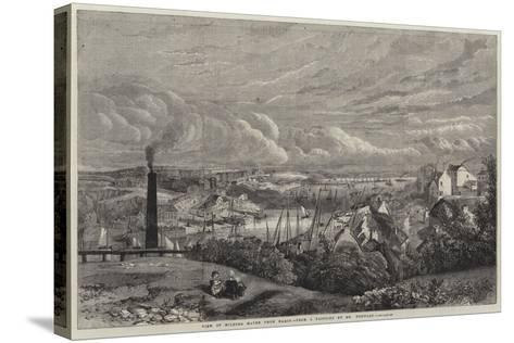 View of Milford Haven from Hakin--Stretched Canvas Print