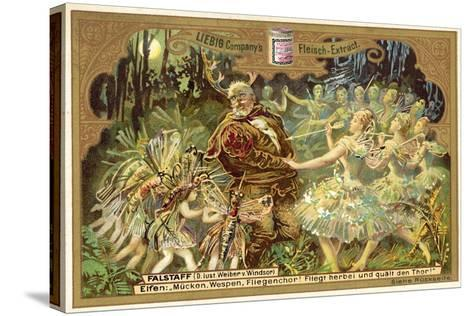 Falstaff Attacked by the Fairies--Stretched Canvas Print