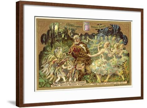 Falstaff Attacked by the Fairies--Framed Art Print