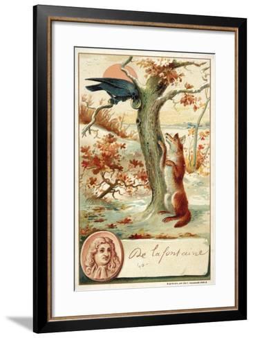 Jean De La Fontaine, French Poet and Fabulist--Framed Art Print