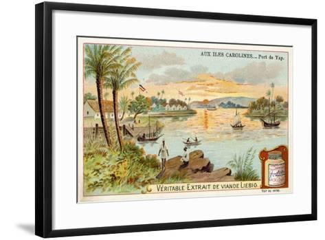 Port of Yap, Caroline Islands--Framed Art Print