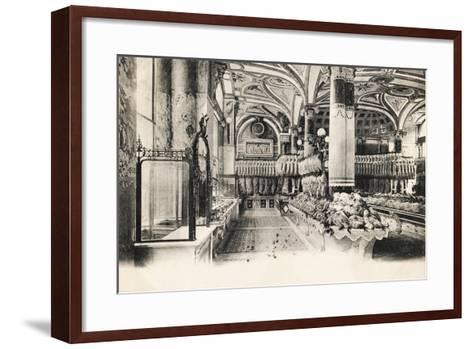 Felix Potin Butcher'S, 95-97 Boulevard Sebastopol, Paris, 1900--Framed Art Print