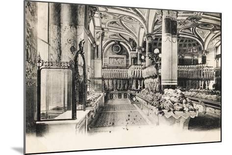 Felix Potin Butcher'S, 95-97 Boulevard Sebastopol, Paris, 1900--Mounted Giclee Print