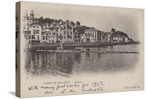 Saint-Jean-De-Luz, Ciboure--Stretched Canvas Print