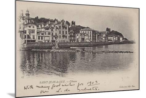 Saint-Jean-De-Luz, Ciboure--Mounted Giclee Print
