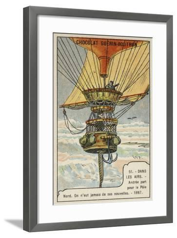Andree Setting Out on His Balloon Flight to the North Pole, 1897--Framed Art Print