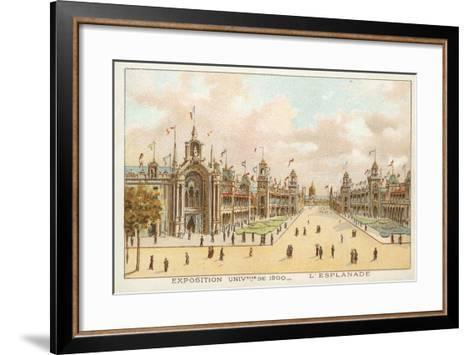 The Esplanade, Exposition Universelle 1900, Paris--Framed Art Print