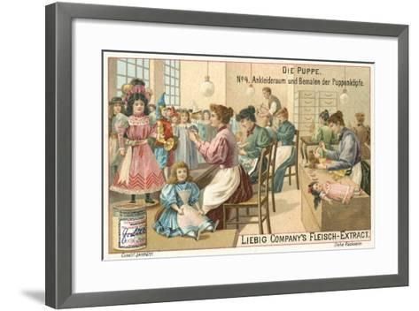 Dressing and Painting Dolls--Framed Art Print