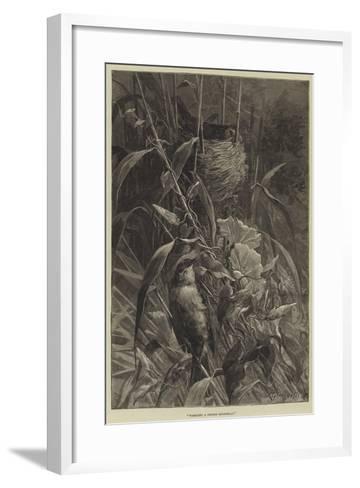 Warbling a Tender Roundelay--Framed Art Print