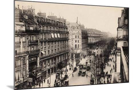 The Olympia Theatre, Boulevard Des Capucines, Paris, 1910--Mounted Giclee Print