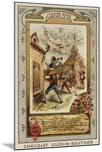 Attaching a May Branch to the Roof of the House of One's Fiancee--Mounted Giclee Print