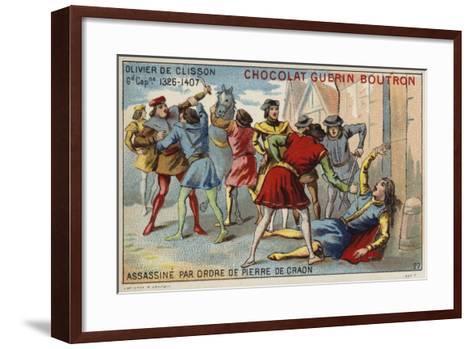 Attempted Assassination of Olivier De Clisson by Pierre De Craon--Framed Art Print