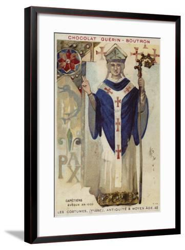 French Bishop of the Capetian Dynasty, 1000--Framed Art Print