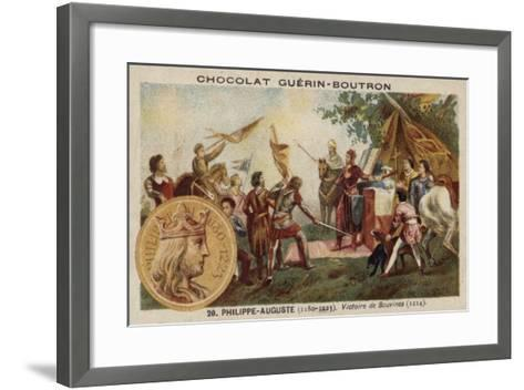 Philip Augustus and the Victory at the Battle of Bouvines, 1214--Framed Art Print