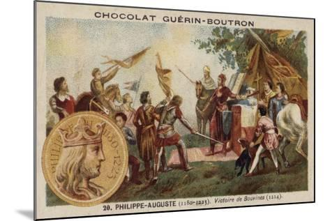 Philip Augustus and the Victory at the Battle of Bouvines, 1214--Mounted Giclee Print