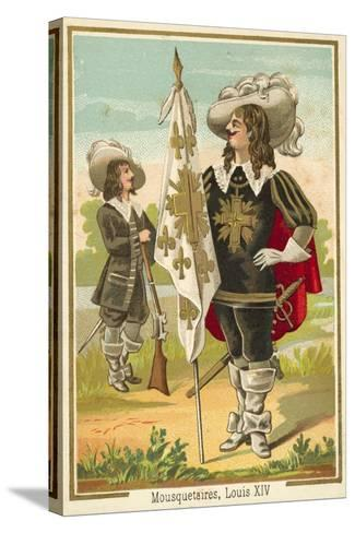 French Musketeers of the Time of Louis XIV--Stretched Canvas Print