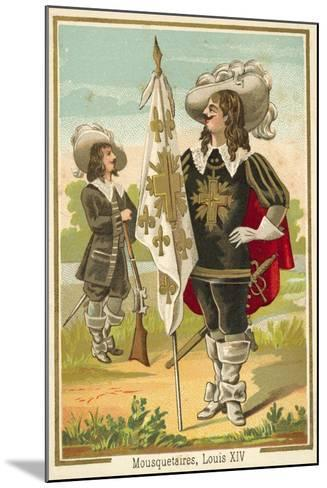 French Musketeers of the Time of Louis XIV--Mounted Giclee Print