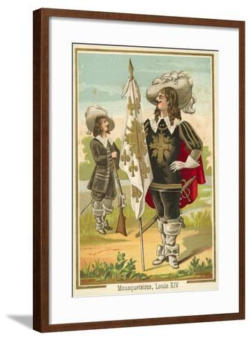 French Musketeers of the Time of Louis XIV--Framed Art Print