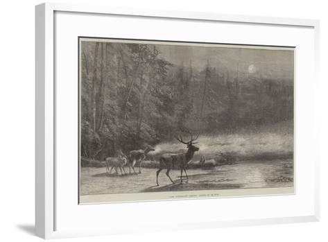 Lake Scene, Early Morning--Framed Art Print