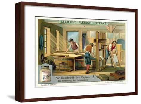 Manufacturing Linen Paper--Framed Art Print