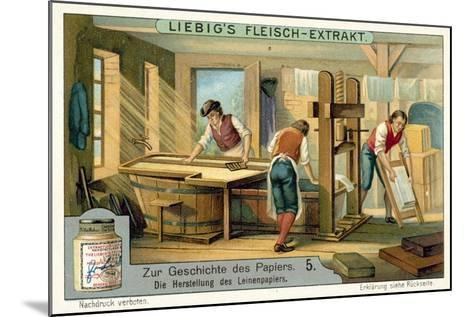 Manufacturing Linen Paper--Mounted Giclee Print