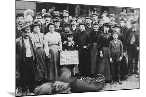Gardeners of Bagneux, Les Halles Market, Paris, 1907--Mounted Giclee Print