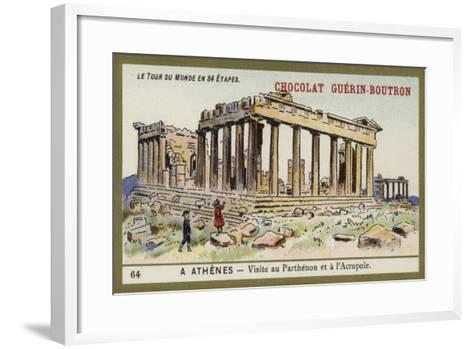 Visit to the Parthenon and the Acropolis, Athens--Framed Art Print