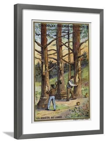 Pine Resin Collectors in the Landes, France--Framed Art Print