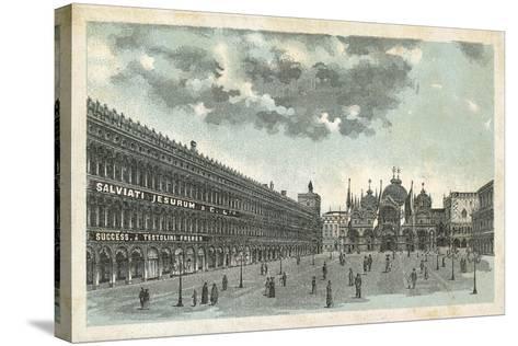 Premises of Salviati Jesurum and Co, Venice--Stretched Canvas Print