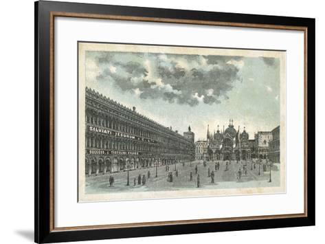 Premises of Salviati Jesurum and Co, Venice--Framed Art Print