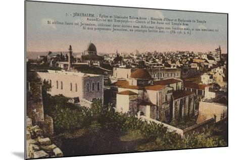 Jerusalem, Church of St Anne and Temple Area--Mounted Giclee Print