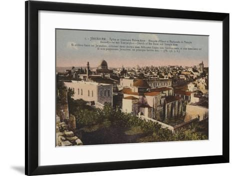 Jerusalem, Church of St Anne and Temple Area--Framed Art Print