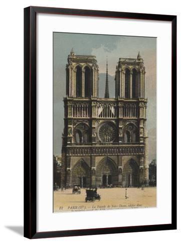 Paris, Notre Dame--Framed Art Print