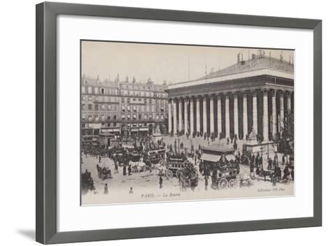 Paris, La Bourse--Framed Art Print