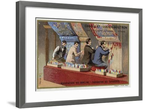 Manufacturing Tapestries at the Gobelins Manufactory--Framed Art Print