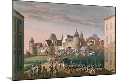 Rush of Imperial Troops at Hoscht, 28th August 1800--Mounted Giclee Print