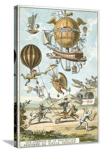 Utopias of Aerial Navigation in the Last Century--Stretched Canvas Print