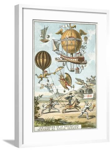 Utopias of Aerial Navigation in the Last Century--Framed Art Print