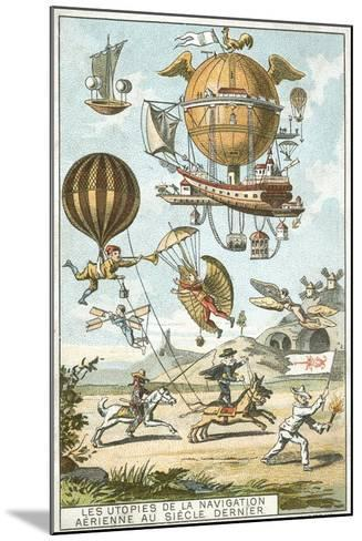 Utopias of Aerial Navigation in the Last Century--Mounted Giclee Print