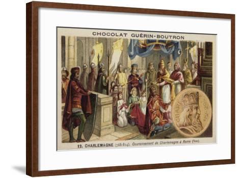 Coronation of Charlemagne as Emperor, Rome, 800--Framed Art Print