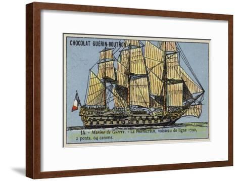 French 64 Gun Ship of the Line Protecteur, 1790--Framed Art Print
