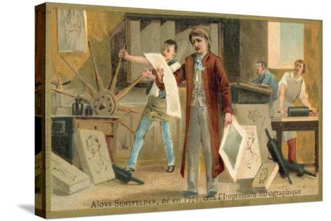 Alois Senefelder, German Inventor of Lithoy--Stretched Canvas Print