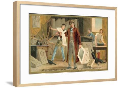 Alois Senefelder, German Inventor of Lithoy--Framed Art Print