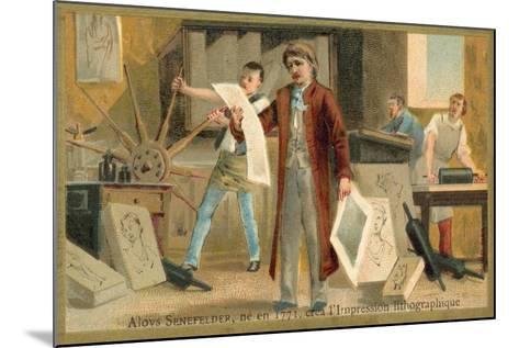 Alois Senefelder, German Inventor of Lithoy--Mounted Giclee Print
