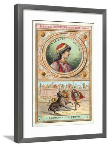 The Courage of Pepin the Short, 8th Century--Framed Art Print