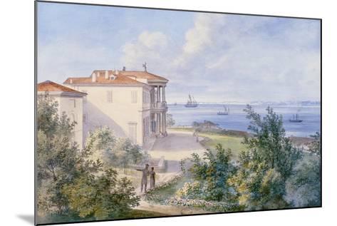 Villa Murat, Campo Marzio in Trieste, 1820--Mounted Giclee Print