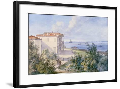Villa Murat, Campo Marzio in Trieste, 1820--Framed Art Print
