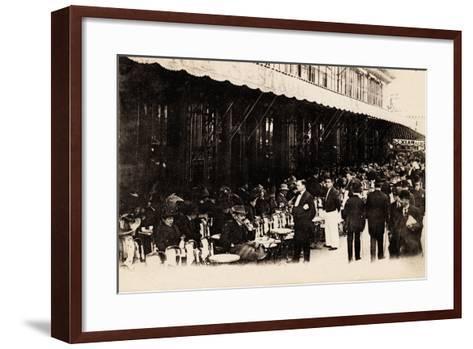 Cafe of Les Grands Boulevards, Paris, 1910--Framed Art Print